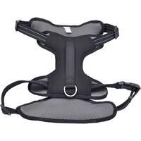 Coastal Reflective Control Handle Harness-Black Extra Large