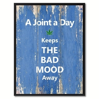 A Joint A Day Saying Canvas Print Picture Frame Home Decor Wall Art Gift Ideas