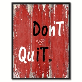 Don't Quit Motivation Saying Canvas Print Picture Frame Home Decor Wall Art Gift Ideas
