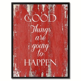 Good Things Are Going To Happen Motivation Saying Canvas Print Picture Frame Home Decor Wall Art Gift Ideas