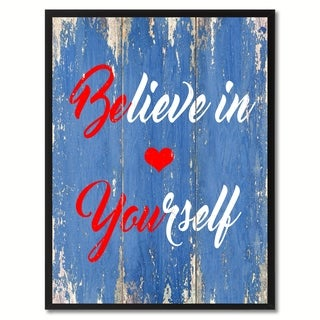 Believe In Yourself Inspirational Saying Canvas Print Picture Frame Home Decor Wall Art Gift Ideas