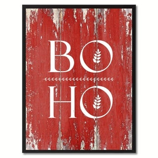 Boho Inspirational Saying Canvas Print Picture Frame Home Decor Wall Art Gift Ideas