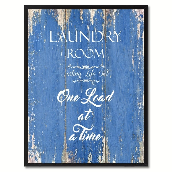 Shop Laundry Room Sorting Life Out Saying Canvas Print Picture Frame ...