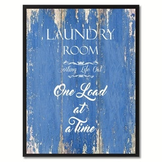 Laundry Room Sorting Life Out Saying Canvas Print Picture Frame Home Decor Wall Art Gift Ideas