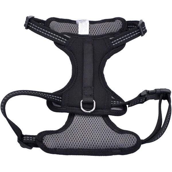 Coastal Reflective Control Handle Harness-Black Medium