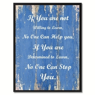 If You Are Not Willing To Learn Motivation Saying Canvas Print Picture Frame Home Decor Wall Art Gift Ideas