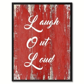 Lol Saying Canvas Print Picture Frame Home Decor Wall Art Gift Ideas