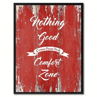 Nothing Good Comes From Your Comfort Zone Motivation Saying Canvas Print Picture Frame Home Decor Wall Art Gift Ideas