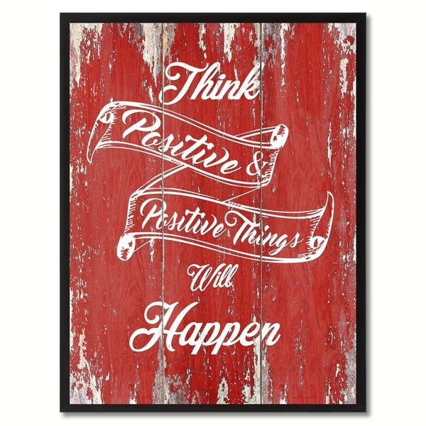 Shop Think Positive Positive Things Will Happen Inspirational