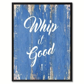 Whip It Good Inspirational Saying Canvas Print Picture Frame Home Decor Wall Art Gift Ideas