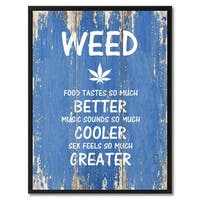 Weed Saying Canvas Print Picture Frame Home Decor Wall Art Gift Ideas