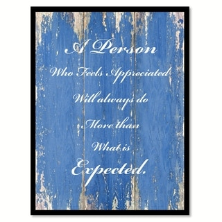 A Person Who Feels Appreciated Inspirational Quote Saying Canvas Print Picture Frame Home Decor Wall Art