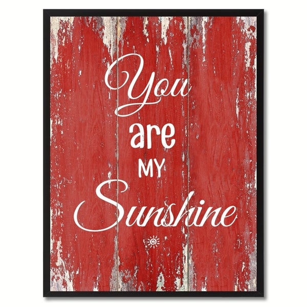 You Are My Sunshine Saying Canvas Print Picture Frame Home Decor Wall Art Gift Ideas