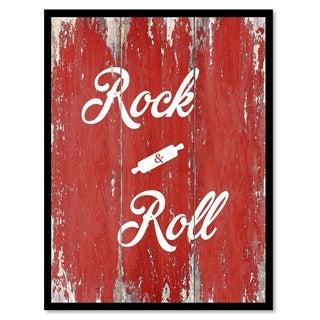 Rock & Roll Quote Saying Canvas Print Picture Frame Home Decor Wall Art