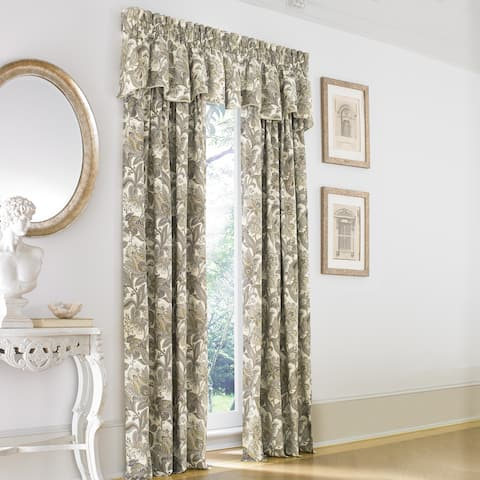 Five Queens Court Vaughn Jacobean Single Curtain Panel