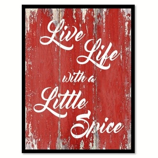 Live Life With A Little Spice Inspirational Quote Saying Canvas Print Picture Frame Home Decor Wall Art