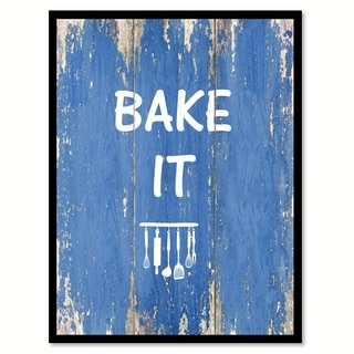 Bake It Quote Saying Canvas Print Picture Frame Home Decor Wall Art