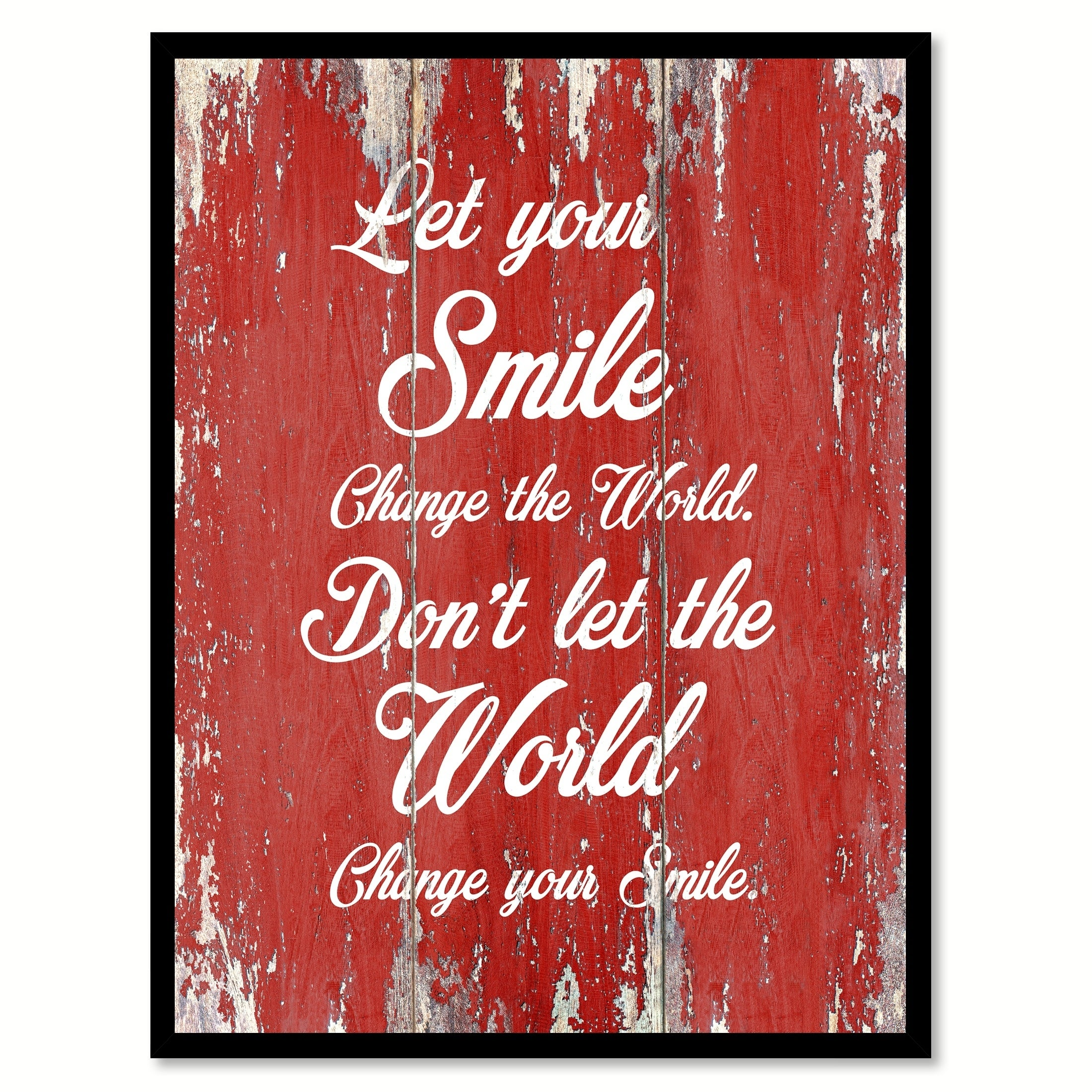 Let Your Smile Change The World Inspirational Quote Saying Canvas