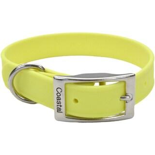 """Coastal 17"""" Waterproof Dog Collar-Yellow"""