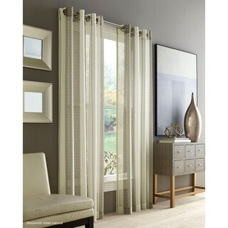 Five Queens Court Rockland Striped Sheer Curtain (3 options available)