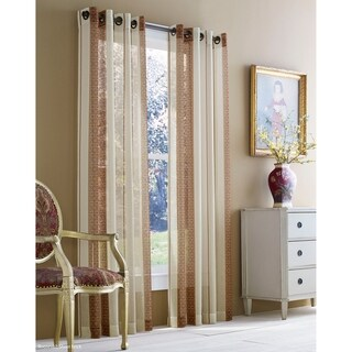 Five Queens Court Rockland Striped Sheer Curtain