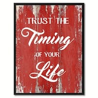 Trust The Timing Of Your Life Motivation Saying Canvas Print Picture Frame Home Decor Wall Art Gift Ideas