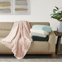 Madison Park Zoe Mohair Solid Throw