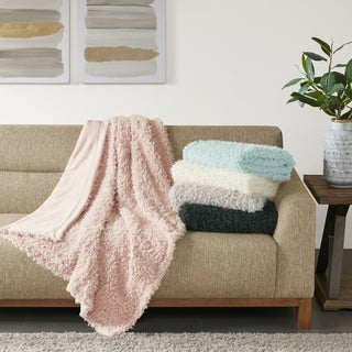 Madison Park Zoe Faux Mohair Solid Throw