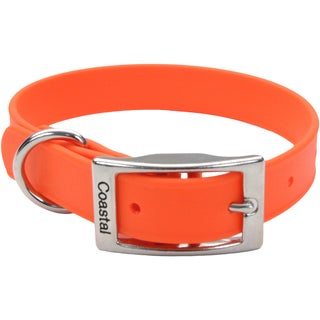 "Coastal 14"" Waterproof Dog Collar-Orange"