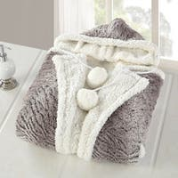 Chic Home Aira Animal Print Snuggle Hoodie Ultra Plush Micromink Sherpa Lined Wearable Blanket