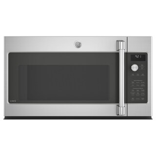 GE Cafe Series 2.1 Cu. Ft. Over-the-Range Microwave Oven - Stainless Steel