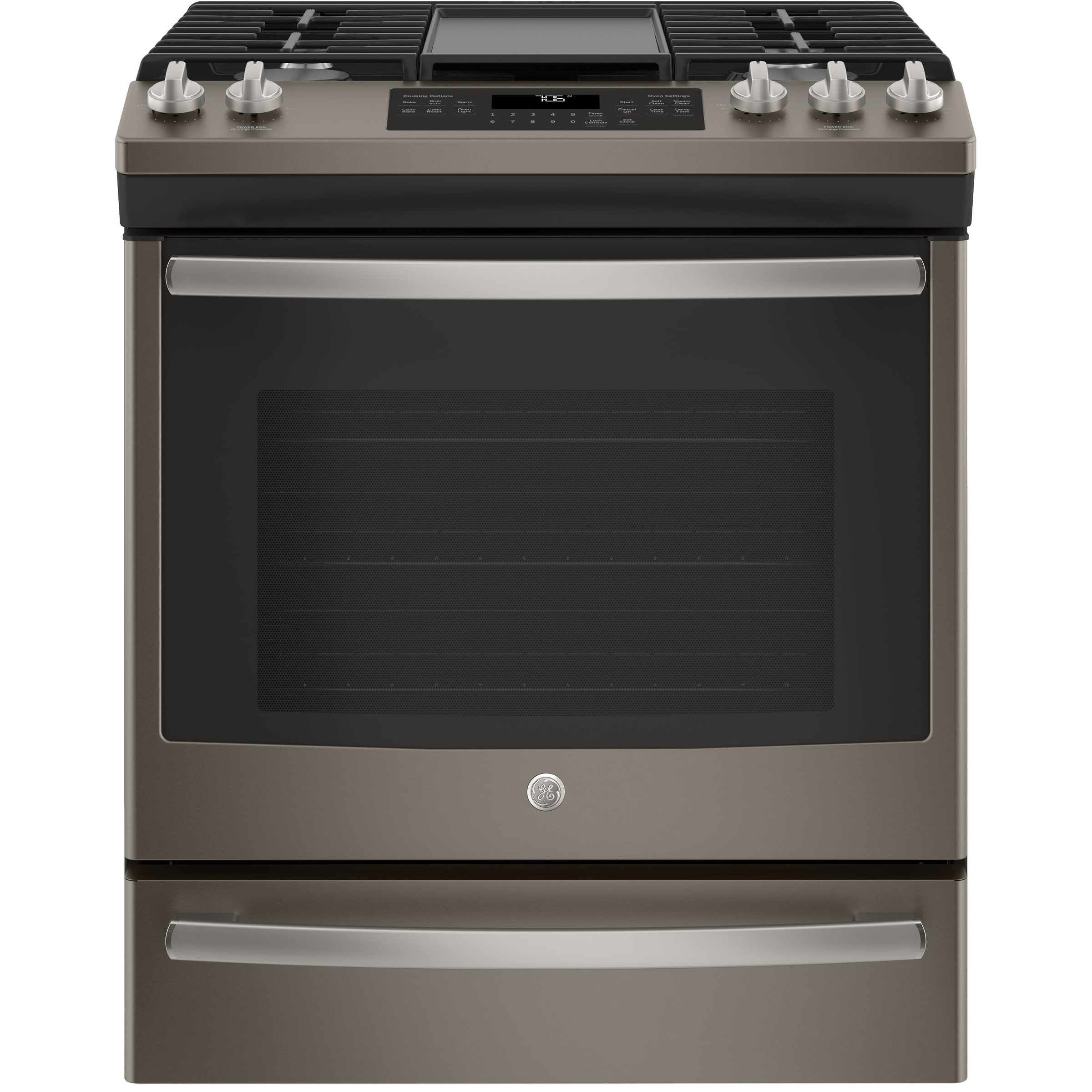 "GE 30"" Slide-In Front Control Convection Gas Range (Gas C..."
