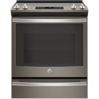 """GE 30"""" Slide-In Electric Convection Range"""