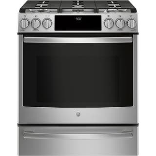 """GE Profile Series 30"""" Slide-In Front Control Gas Range https://ak1.ostkcdn.com/images/products/17994447/P24167106.jpg?impolicy=medium"""