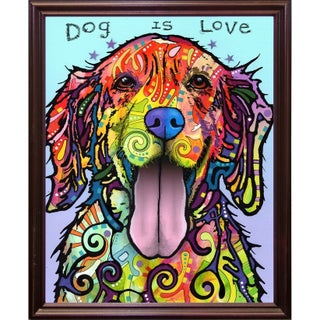 "Dog Is Love Framed Print 20""x16"" by Dean Russo (2 options available)"