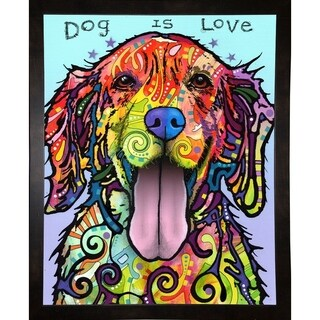 "Dog Is Love Framed Print 20""x16"" by Dean Russo"