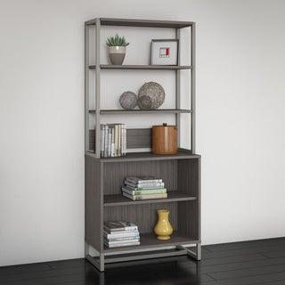 Office by kathy ireland Method Brown Bookcase with Hutch