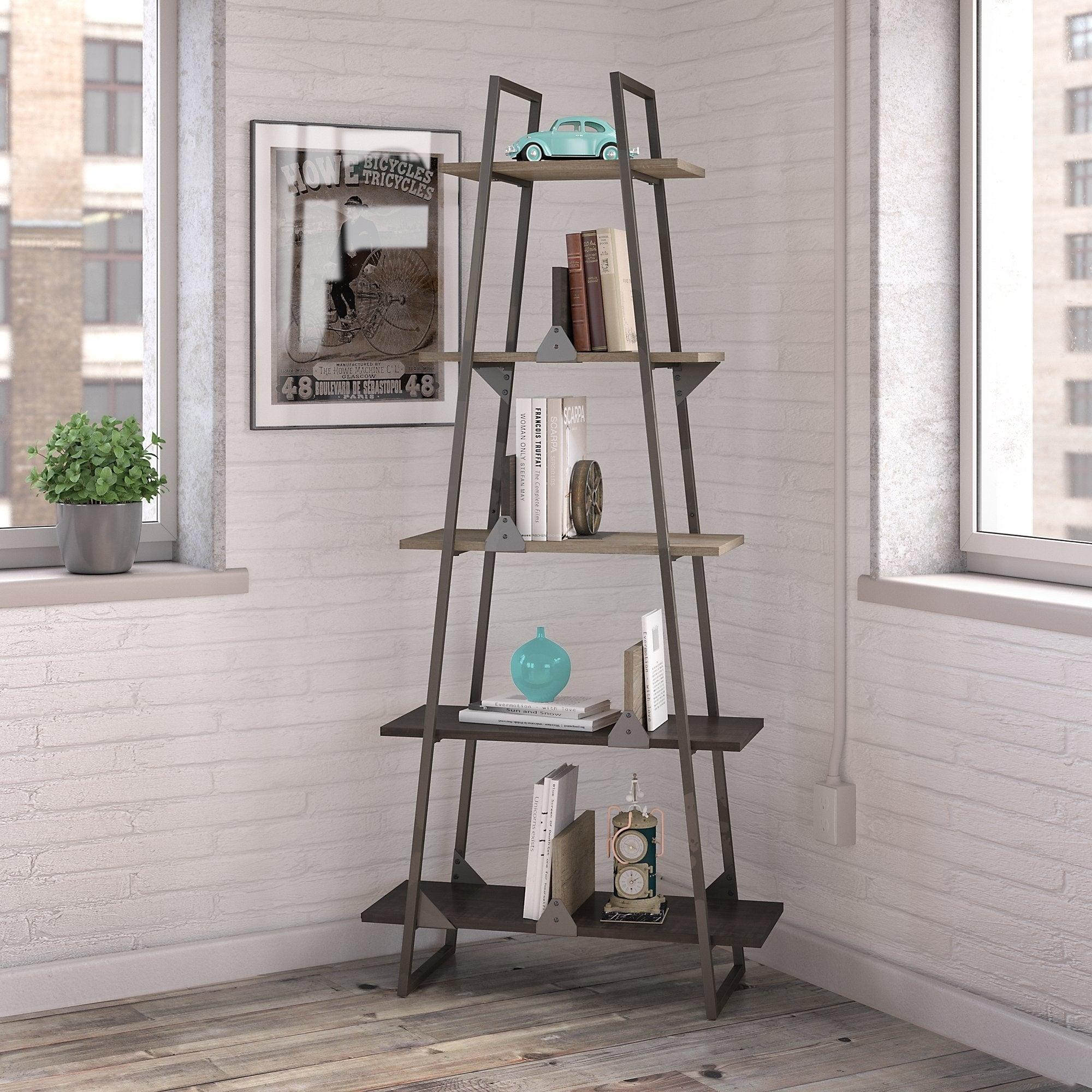Carbon Loft Plimpton A Frame Bookshelf