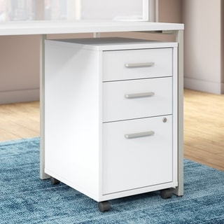 Office by Kathy Ireland Method White 3-drawer Assembled Mobile File Cabinet