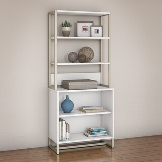 Office by Kathy Ireland Method White Bookcase With Hutch