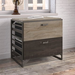 Bush Furniture Refinery Grey Lateral File Cabinet