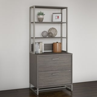 Kathy Ireland Office Method Metal-framed Lateral File Cabinet with Hutch