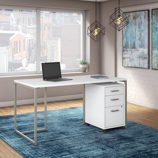 Shop Method 60W Table Desk, 3 Drawer Mobile File Cabinet