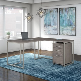 Method 60W L Desk, 30W Return and Mobile File from Office by kathy ireland®