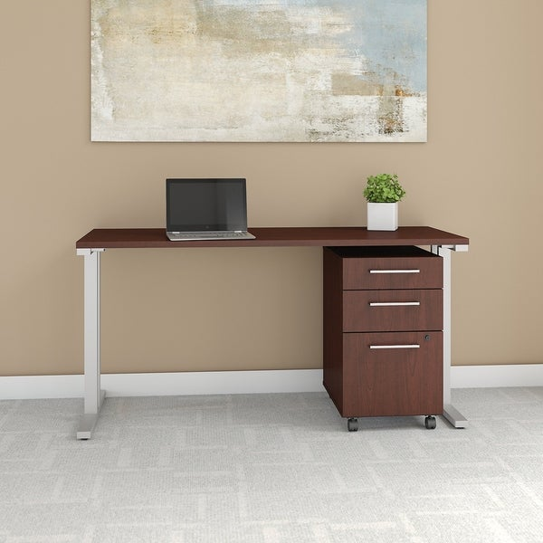 400 Series 60W x 24D Table Desk with 3 Drawer Mobile File Cabinet
