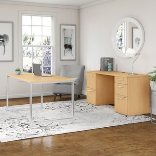 400 Series 60W x 30D Table Desk and Credenza with File Drawers