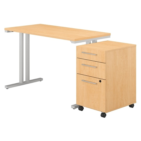 Shop 400 Series 48w X 24d Table Desk With 3 Drawer Mobile
