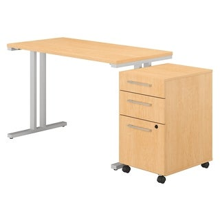 400 Series 48W x 24D Table Desk with 3 Drawer Mobile File Cabinet