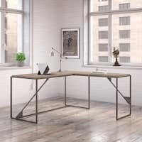 Carbon Loft Plimpton Industrial Desk with 37-inch Return in Rustic Grey