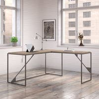 Refinery 62W L Shaped Industrial Desk with 37W Return in Rustic Gray